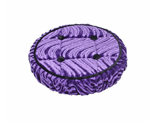 Lowrider Bike Steering Wheel Cover Velour Buttons Purple