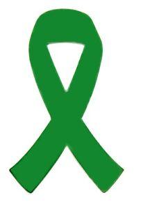 green ribbon car magnet cerebral palsy kidney cancer awareness
