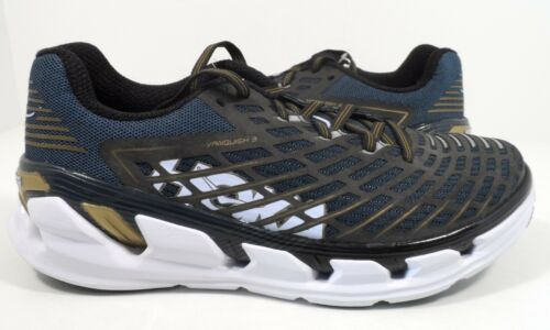 Hoka One One Men/'s Vanquish 3 Road Running Shoes Navy//Gold Size 9