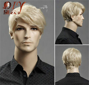 Daily-Heat-Resistant-Men-Short-Blonde-Straight-Natural-Hair-Cosplay-Full-Wigs