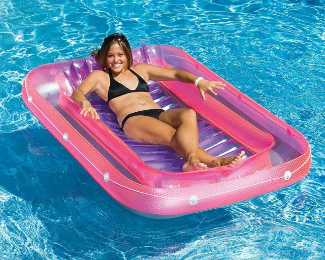 Inflatable Swimming Pool Floats Tub Ride On For Adults Lounger Cool Beach  Rafts