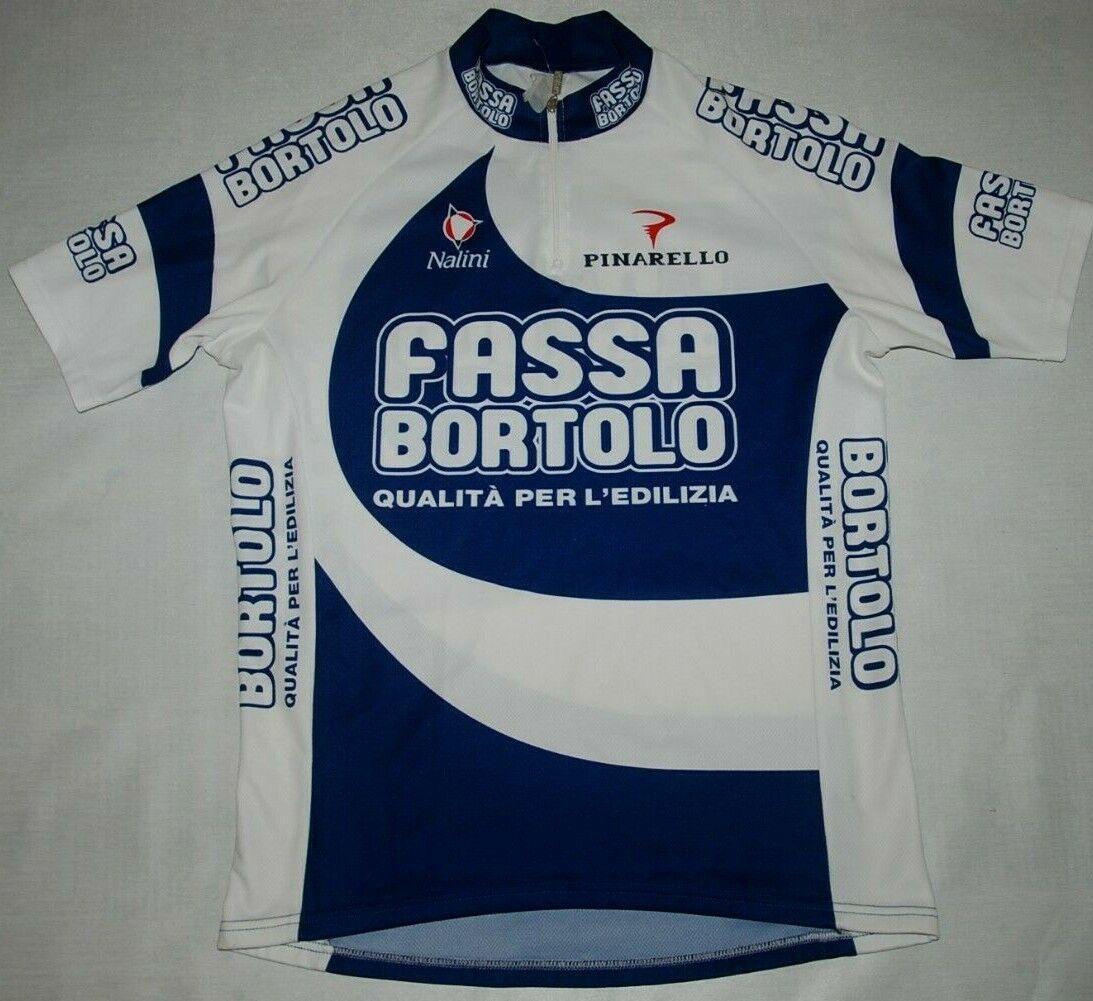 FASSA BORTOLO CYCLING JERSEY TEAM VINTAGE NALINI PINARELLO SHORT SLEEVE blueE L