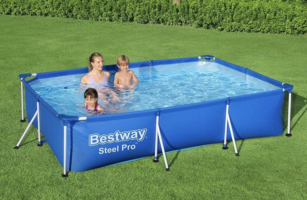 ☀️Bestway Frame Swimming Pool, Steel Pro, 9.1 ft, Brand New ✅ Fast & Free 🚚💨