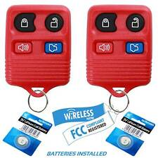 2 Car Key Fob Remote 4b Red For 2005 2006 2007 2008 2009 2010 Ford Mustang Fits Ford