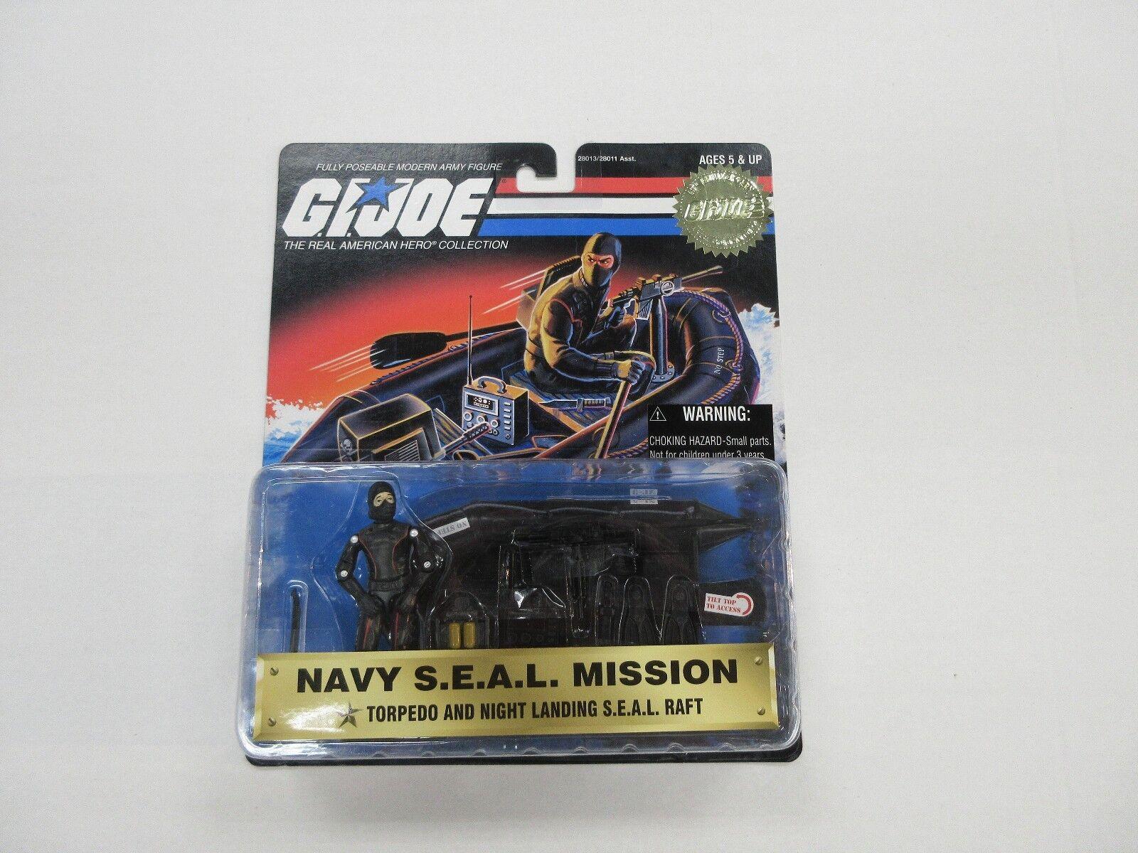 1997 - gi joe navy - seal - mission w   torpedo & nacht landung floß festgelegten zahl versiegelt