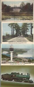 Vintage-Scenic-Postcards-Circa-1800-039-s-1900-039-s-Lot-of-5-Trains