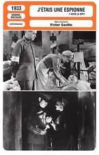 FICHE CINEMA : J'ETAIS UNE ESPIONNE - Marshall,Veidt,Saville 1933 I Was A Spy