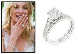 2-43-Ct-CZ-Round-Cut-Prong-Solitaire-Wedding-Engagement-Ring-Set-Size-8