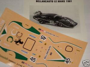 FERRARI-512-BB-BELLANCAUTO-LE-MANS-1981-1-43-DECALS
