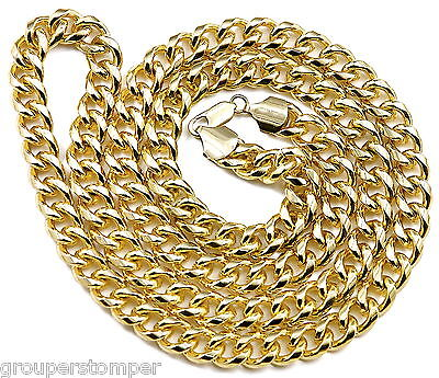 Cuban Thick Link Necklace New Chain Hip Hop With Lobster Claw Clasp Miami