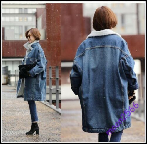 Coat Dame Outwear Plus Denim Varmt Long Lining Loose Størrelse Jacket Thicken wSxpqCBfxn