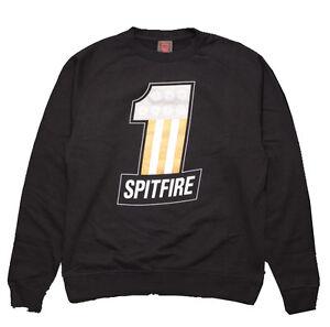 SPITFIRE-Numero-1-Skate-Equipo-Sudadera-Camiseta-Grande-Negro