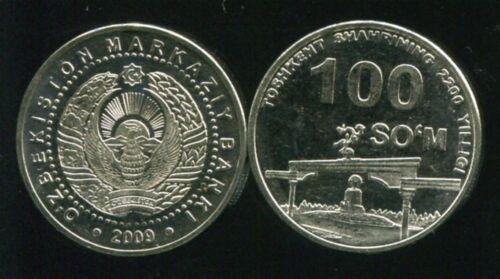 "UZBEKISTAN 100 SOM /""2002th TASHKENT ARCH of  INDEPENDENCE 2009 KM 31 COIN UNC"