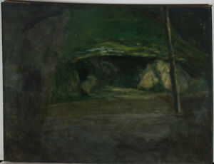 Alan Charles Hobson RCA (1942-2002) - 1994 Oil, Cave Entrance