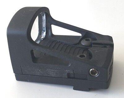 SCUDO MINI vista SMS 4MOA puntino Rosso /& KIT MONTAGGIO PER GLOCK MOS Slide CUT pistola