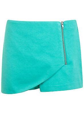 NEW Ex MISS SELFRIDGE Green Mint Summer Holiday Skort Skirt Shorts Sizes 8-16