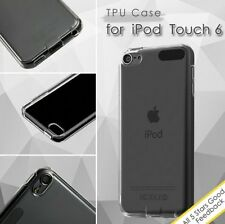 for iPod Touch 5th 6th Generation - CLEAR TPU Gummy Hard Rubber Skin Case Cover