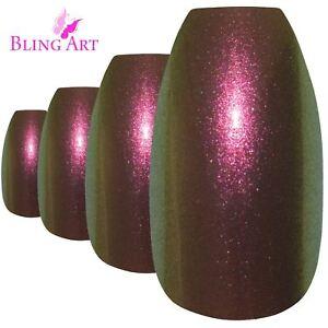 False-Nails-Gold-Purple-Chameleon-Ballerina-Coffin-Bling-Art-24-Tips-2g-Glue