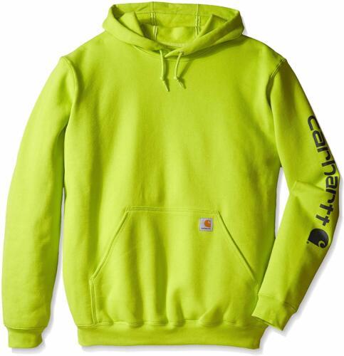 Carhartt Men/'s Midweight Sleeve Logo Hooded Sweatshirt Regular and Big /& Tall S