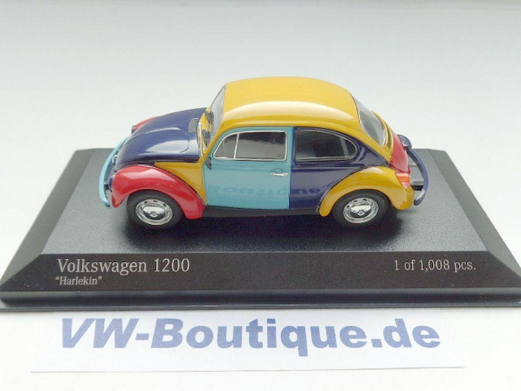 + VOLKSWAGEN VW BEETLE 1200  Harlequin by Minichamps in 1 43 + 400057102  économiser jusqu'à 80%