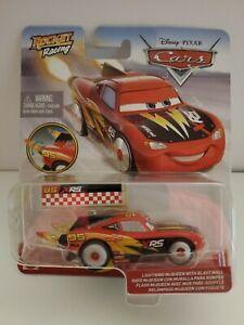 NEW Disney Pixar Cars 3: Rocket Racing Lightning McQueen w/ Blast Wall Die Cast