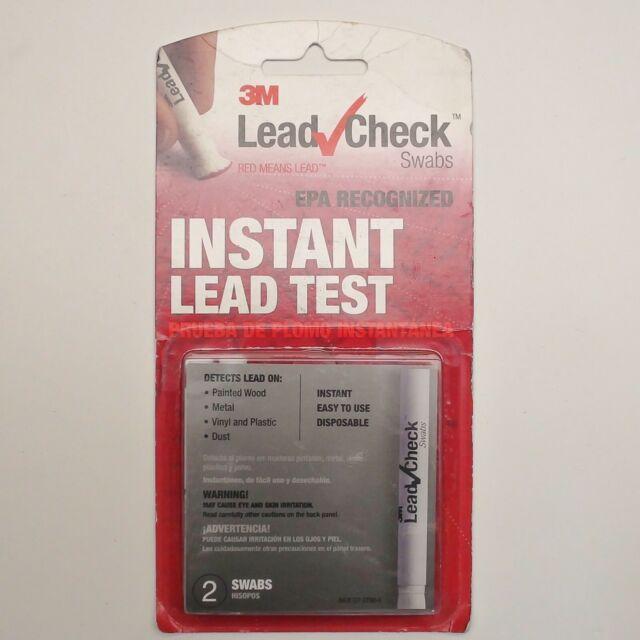 3M Lead Check Swabs Instant Lead Test ( 2 Swabs) EPA