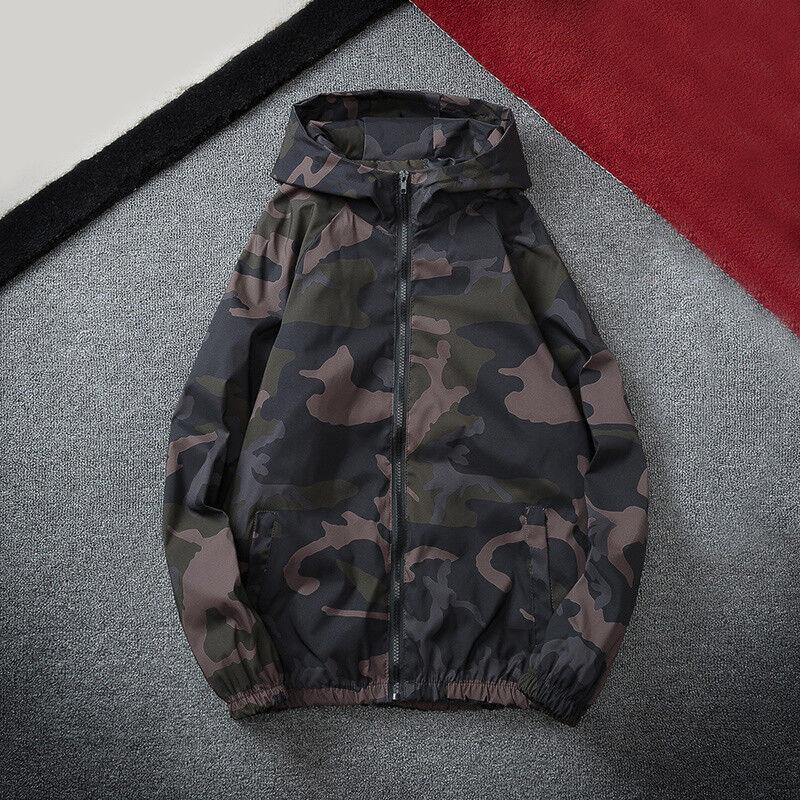 Camo Hommes Bomber Veste Motard à Capuche Blazer Capuche Manteau Coupe-Vent à Capuche Blazer be436a