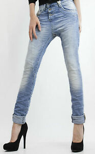 PLEASE-Jeans-P78-Denim-Chiaro-SW-3-Bottoni-Boyfriend-Baggy-Donna-Made-in-Italy