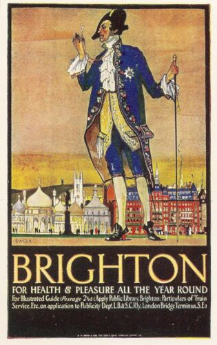 BRIGHTON  Health and Pleasure Vintage  Railway//Travel Poster A1,A2,A3,A4 Sizes
