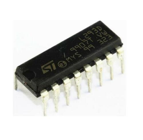 10PCS IC L293 L293D ST DRVR P//P 4CH W//DIODES 16-DIP NEW
