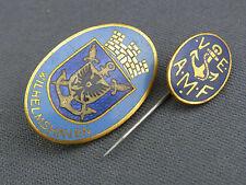 2 alte Abzeichen Marine Wilhelmshaven