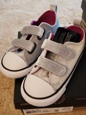 fdace8f9710e Converse CT AS 2V OX Velvet Infant Shoes US Size 10 Wolf Gray Pink Sapphire