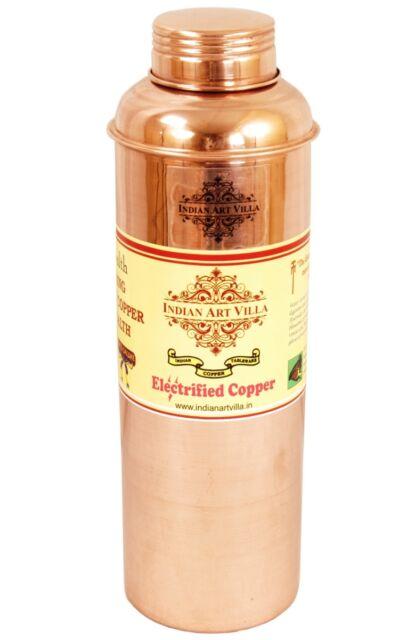Handmade Copper Water 800ML Bottle Storage Health Benefits Yoga Ayurveda