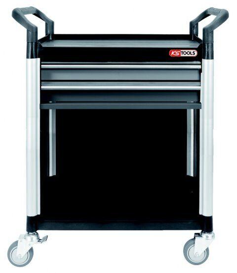 Ks Tools 800.0031 Atelier Panier Voiture de Service, Atelier Panier Atelier 200 kg, 2 Tirroirs fa5037