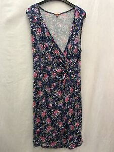 Joe-Browns-ladies-dress-floral-blue-faux-wrap-viscose-size-18-03