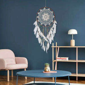 43-inch-Large-Handmade-Dream-Catcher-With-White-Feathers-Bead-Kids-Room-Decor-US