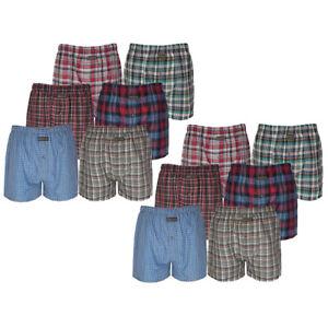 6-or-12-Pairs-Mens-Woven-Boxer-Shorts-Cotton-Rich-Underwear-Briefs