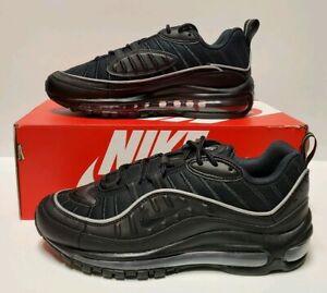 Details about Nike Air Max 98 Black Off Noir Womens Athletic Sneakers AH6799-004 Sz 7.5 Shoes