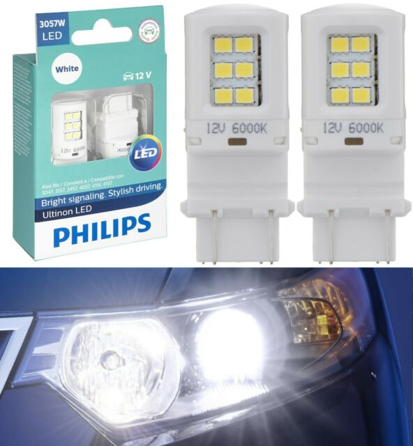 Philips Ultinon LED Light 3057 White 6000K Two Bulbs Stop Brake Tail Replace Fit