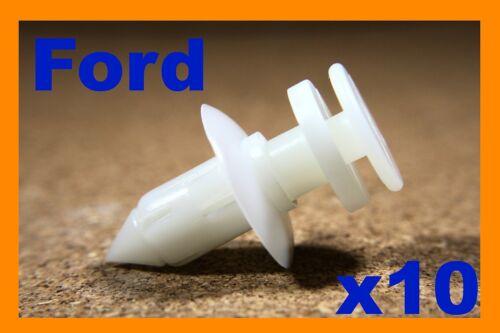 Pour FORD 10 porte carte Fascia Trim Tablier Panneau Pousser Plastique Attache Clips