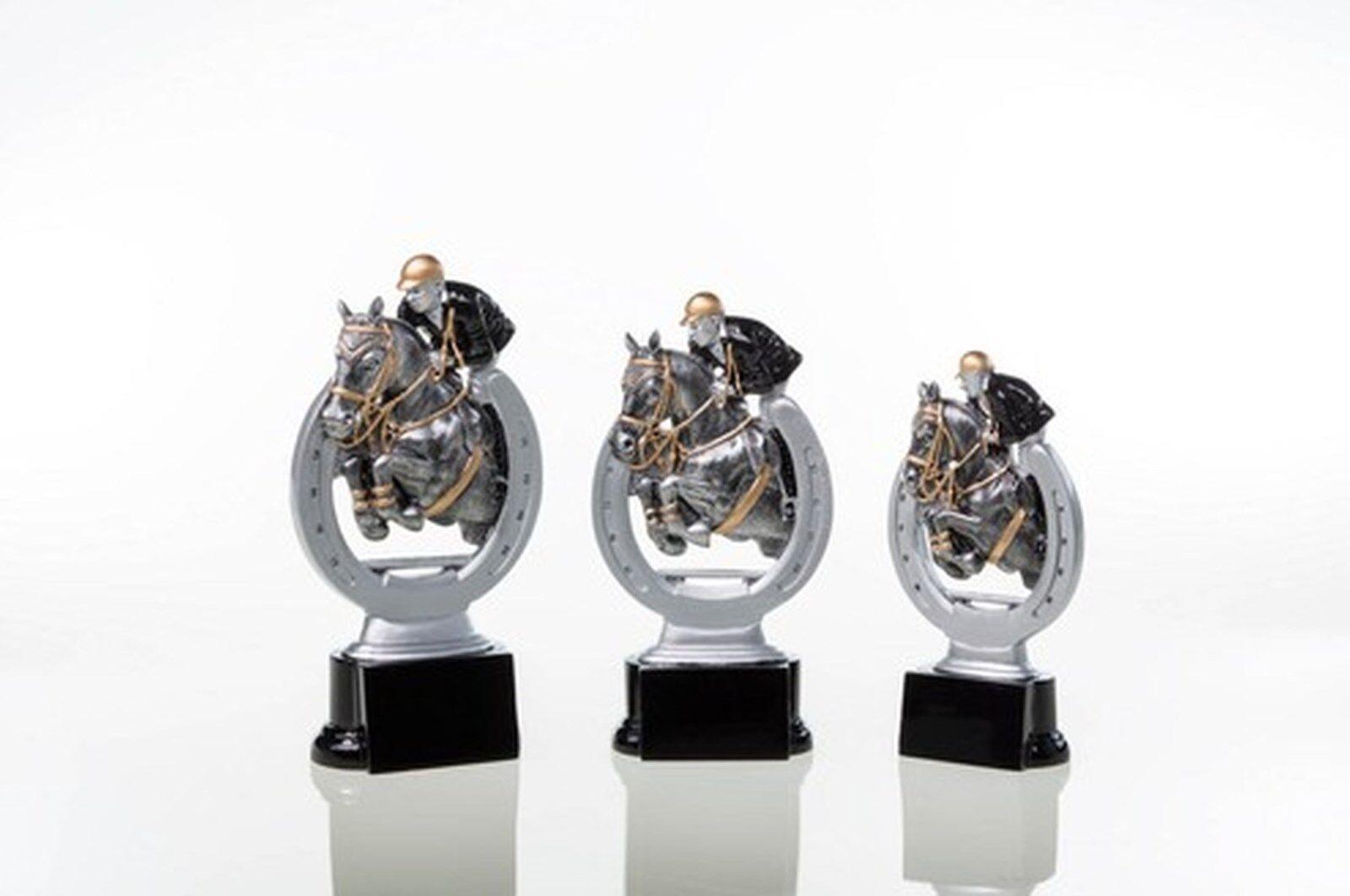 6 Figuren Figuren Figuren Reiten   Schach 3er Serie aus Resin mit Gravur (Reitsport Pferd Pokal) 5fff1f