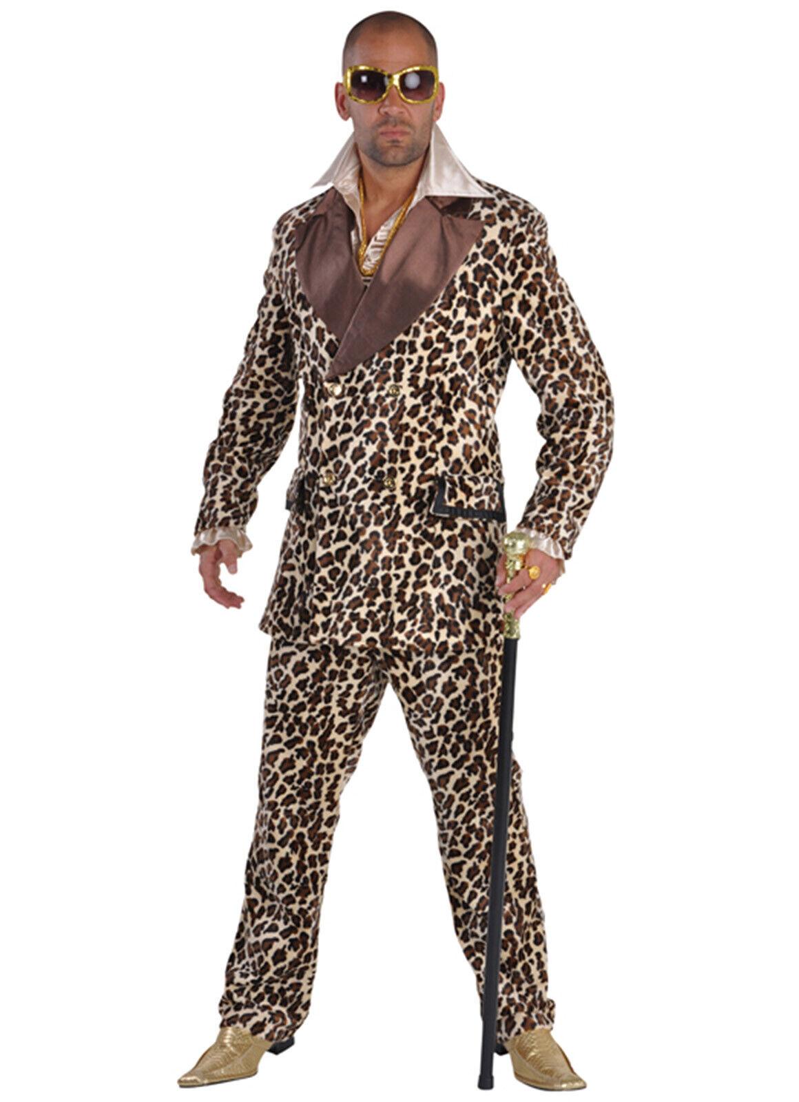 Deluxe Leopard Print Furry PIMP, Huggy Bear Suit XS-XXL