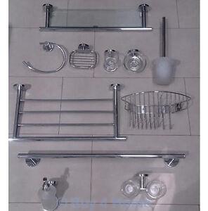 rak premium stainless steel bathroom accessories chrome glass bath shower ebay. Black Bedroom Furniture Sets. Home Design Ideas
