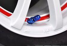 Válvula de Neumático de Bala Estilo Corto Azul Tapa ajuste universal para todos los vehículos