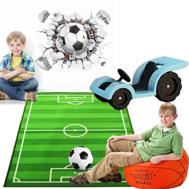 Play Rug Boys Football Pitch Childrens Rug Green: KIDS LARGE SMALL BEDROOM FOOTBALL PITCH FLOOR RUG NURCERY