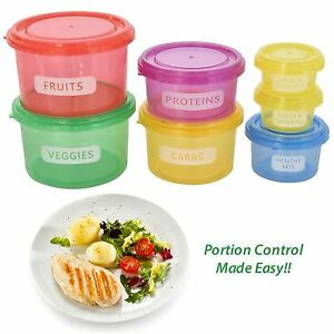 7Pcs//set de alimentos porciones perfecto manera fácil perder peso Caja