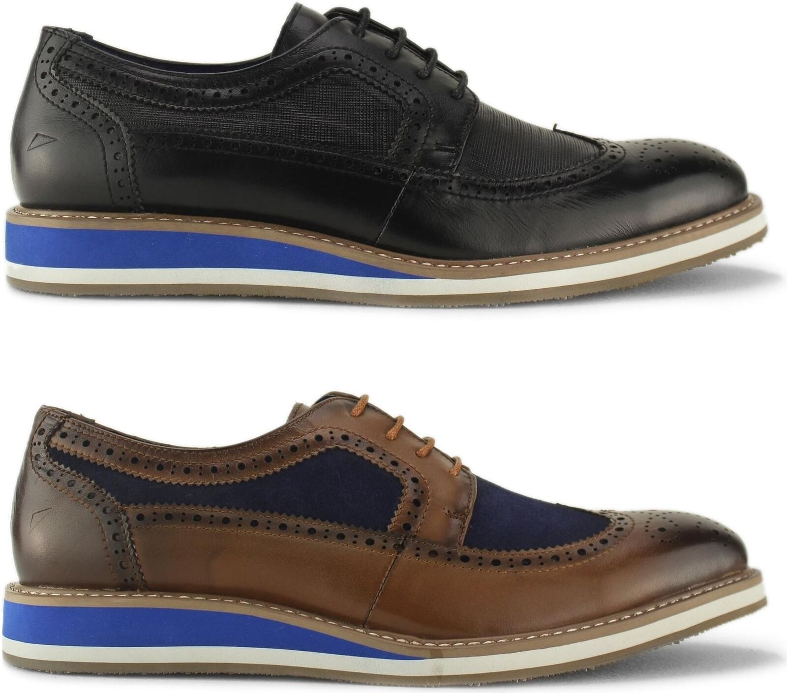 Front BERKELEY Mens Stylish Real Suede Leather Smart Casual Lace Up Brogue schuhe