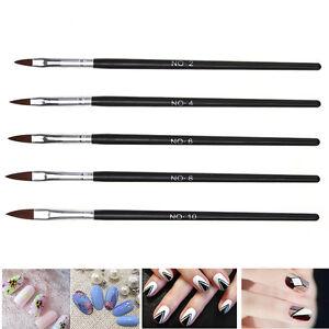 5X-Kolinsky-Buersten-Stift-Acryl-Nail-Pinsel-Professionelle-Nail-makeup-Tool
