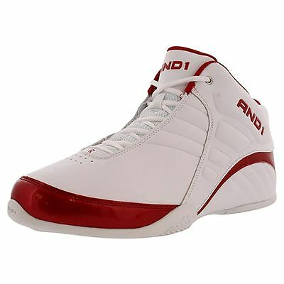 AND1 AND 1 Mens D1051MWWR Rocket 3.0 Mid Basketball Shoes [ White / Red ]