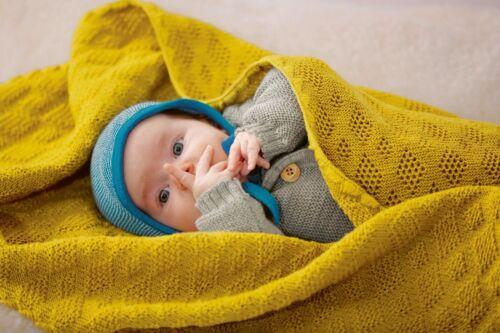 disana Baby Decke Merino Schurwolle kbT Wolle bio öko wool Babydecke Strickdecke